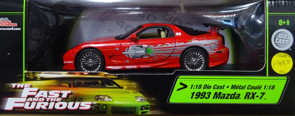 ERTL 1993 Mazda RX7 from the Fast and Furious 33414