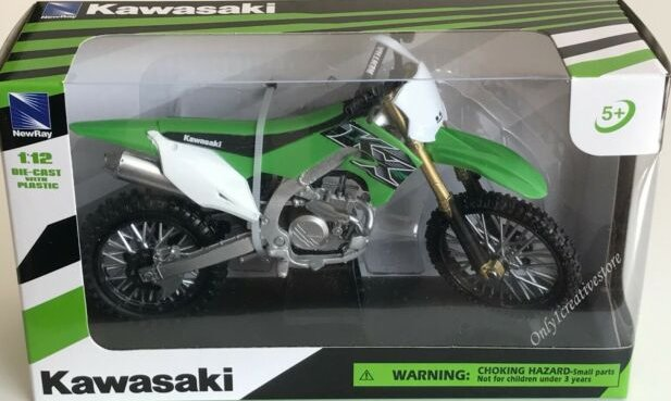 Kawasaki 2019 KX450F1//12 Motorcross Bike Green Motorcycle Toy by New Ray 58103