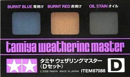 Tamiya Finishing products Weathering Master D Set Burnt Blue Oil Stain -  87088
